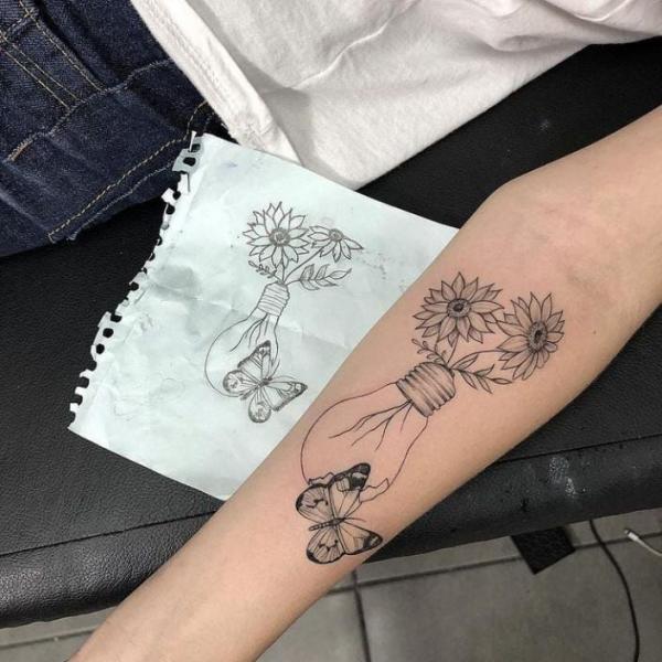 schöne glühbirne - tattoos 2020