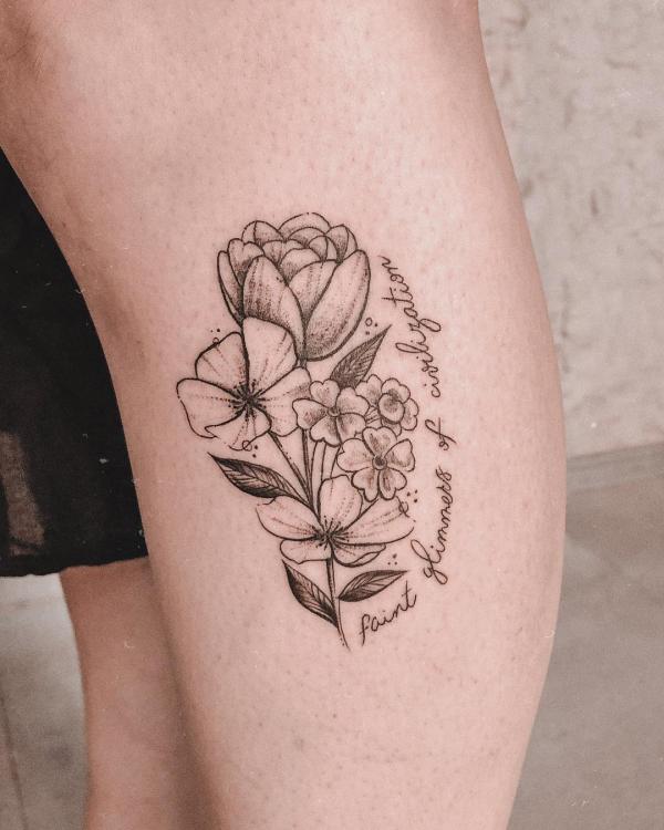 tattoos 2020 - blumen muster tipps