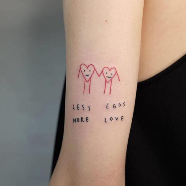 tattoos 2020 herzen schöne ideen