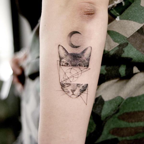 tattoos 2020 katzen geometrie tolle muster