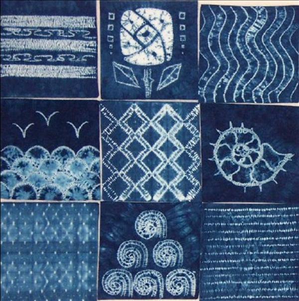 tolle Muster für die Shibori Technik