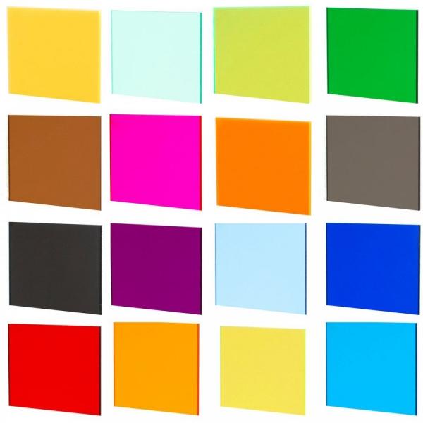 verschiedene Schattierung - Viele Farben Acryglassplatten