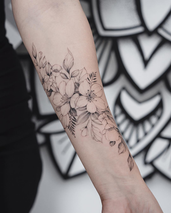 wunderbare ideen - blumen tattoos 2020