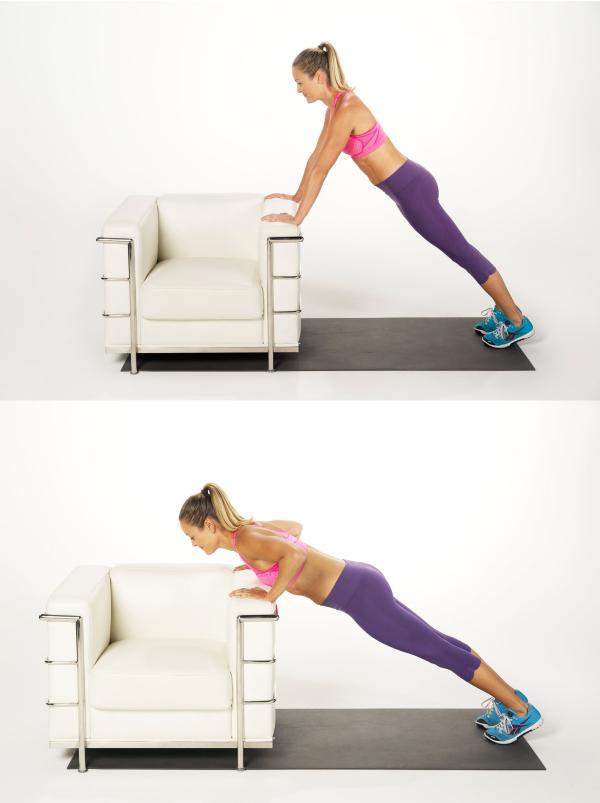 Übung mit dem Sofa Sport zuhause