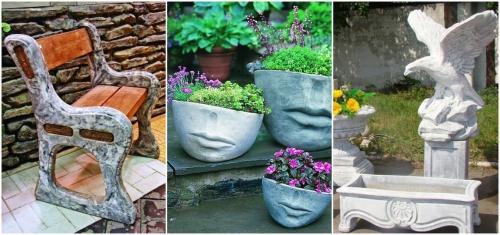 Betondeko Gartengestaltung Deko