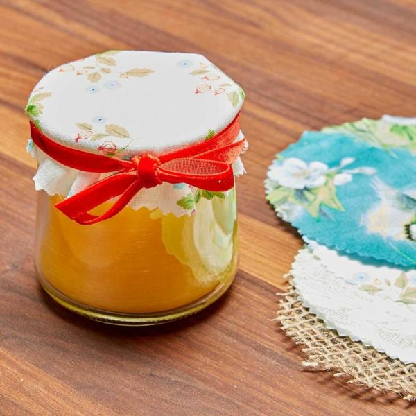 Bienenwachstücher selber machen Glas Deckel