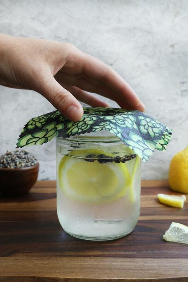 Bienenwachstücher selber machen Glas