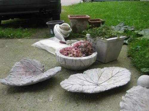 Blätter DIY Deko Garten Betondeko