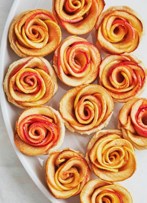 Blätterteig Rosen backen leicht gemacht