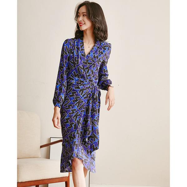 Blaues Sommerkleid - Wickelkleid Ideen - Sommerkleider