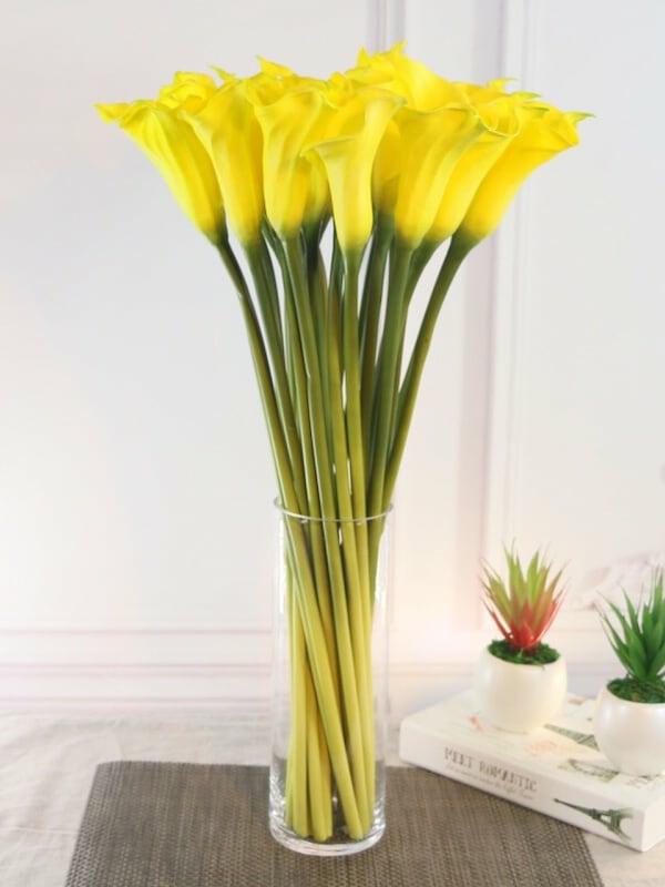 Calla Blume Blumenstrauß gelb Zimmercalla