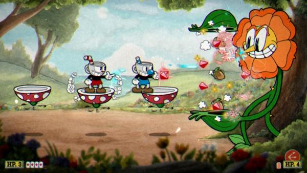 Die besten Co-op Videospiele für Paare während der Pandemie cuphead boss co op gameplay