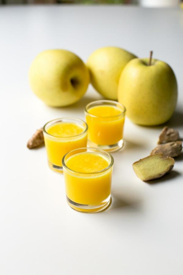 Ingwer Shot Rezept Zitronen und Äpfel