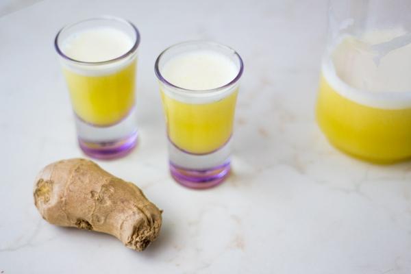 Ingwer Shot selber machen Rezept Immunsystem fördern