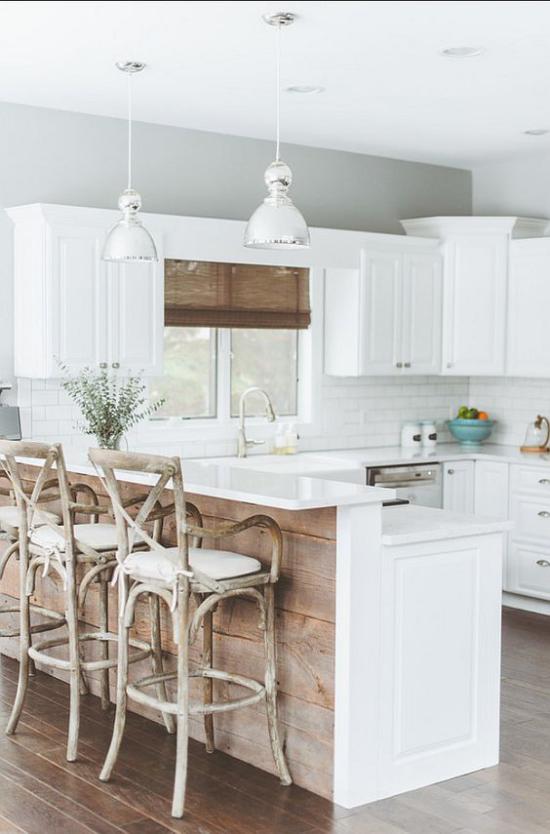 Multifunktionale Räume Modern trifft Landhausstil Küche Esszimmer Kücheninsel schick gestaltet