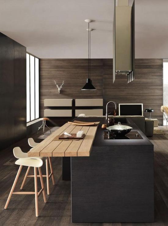Multifunktionale Räume clevere Lösung elegante stilvolle Ausführung Küche