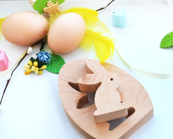 Osterhasen aus Holz Ideen Spiele zu Ostern