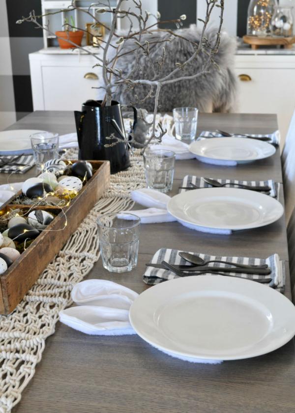 Ostern-Tischdeko Osterhasen Geschirr