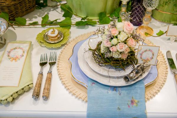 Ostern-Tischdeko Schmuck Blumen