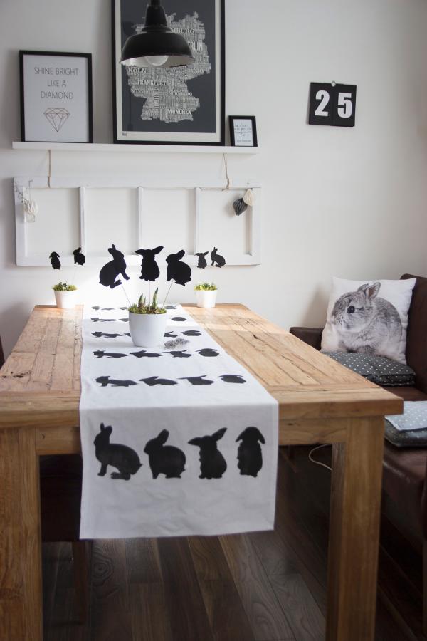 Ostern-Tischdeko Schwarze Hasen Ideen