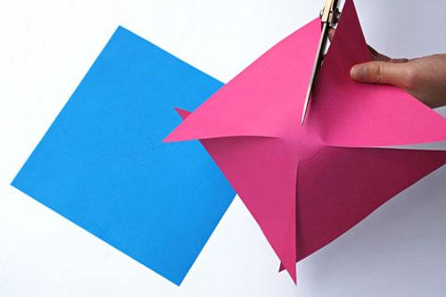 Papierblätter schön falten DIY Ideen