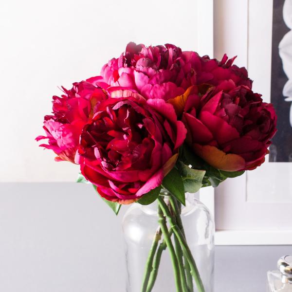 Pfingstrosen - einige Blüten in der Vase