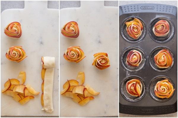 Pfirsich Pflaume Blätterteig Rosen Zubereitung Rezeptideen
