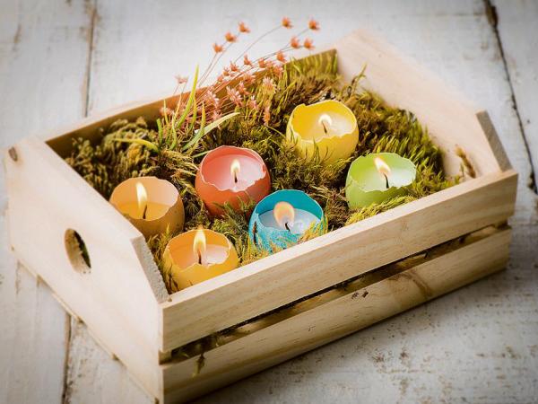 Schöne Kerzen - tolle Ostern-Tischdeko