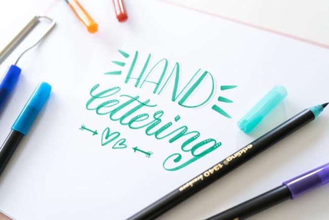 Schönschrift lernen und meistern Grundlagen der Kalligrafie handlettering lernen von zuhause