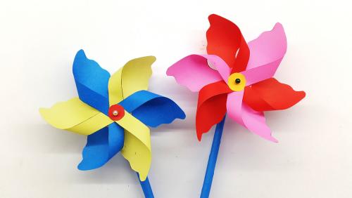 Schattierungen Ideen Basteln mit Kindern Windrad basteln