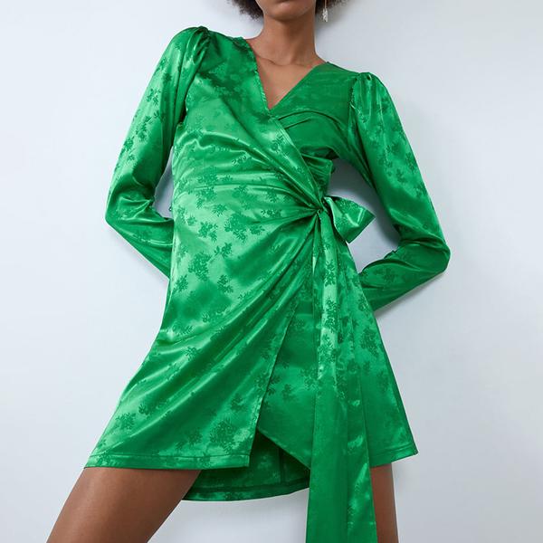 Sommerkleider - grünes Sommerkleid - Wickelkleid Ideen