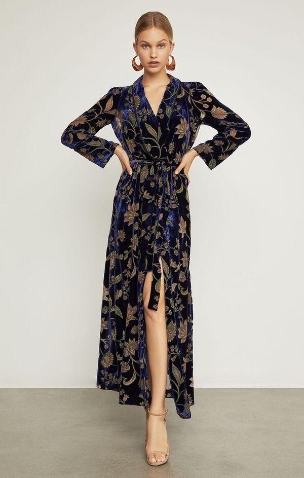 Sommerkleider - langes schieres Kleid