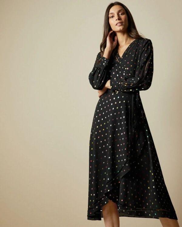Sommerkleider - sehr lange Kleider - Muster - Wicklekleider