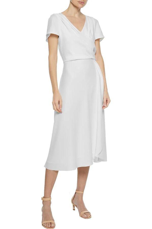 Sommerkleider -weiße Wickelkleider Ideen