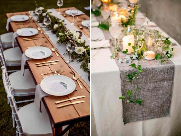 Tischläufer und Teller - Ostern-Tischdeko