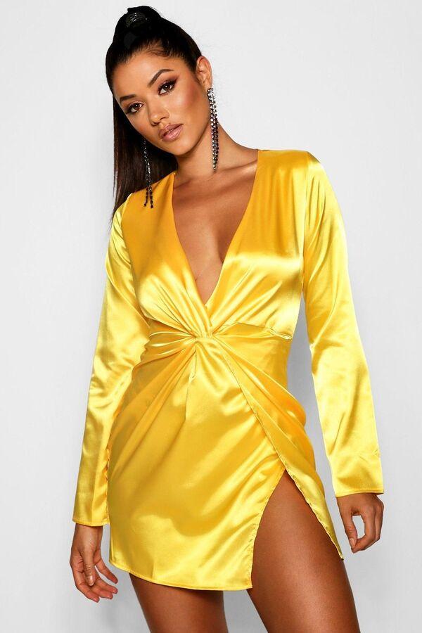 Trendige gelbe Farbe - Wickelkleid Ideen Sommerkleider