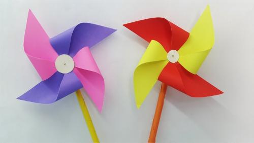 Windrad basteln DIY Ideen Variationen
