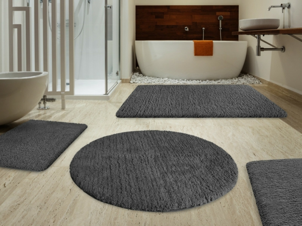 badezimmereinrichtung bodenbelag badteppich
