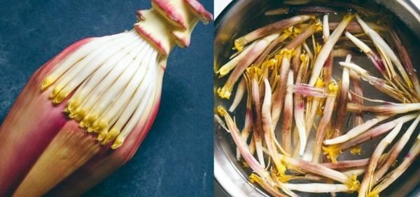 bananenblüte zubereiten schälen kochen