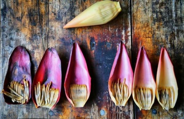 banenenblüte zubereiten tischdeko