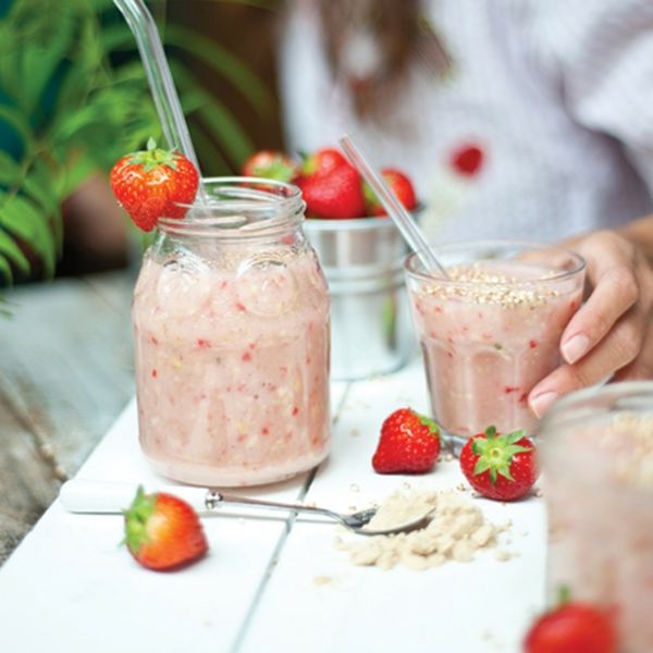 erbeer abnehme shake sommer smoothie