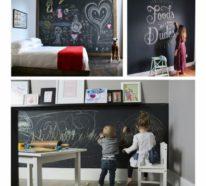 Blickfang in der Wohnung: Tolle Wandgestaltung mit Kreidetafeln