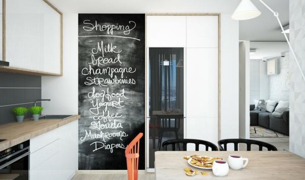kreidetafeln küche einkaufsliste