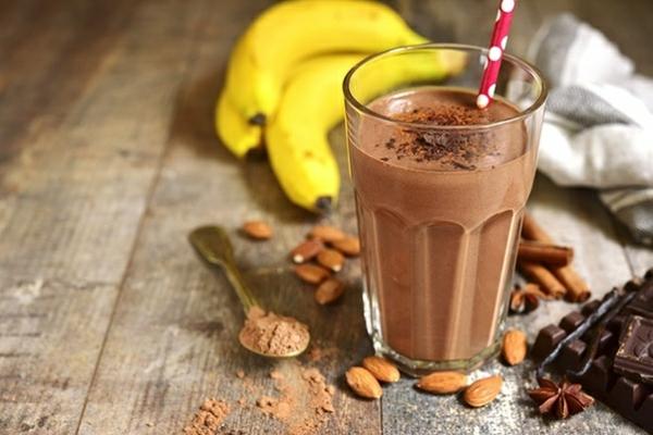 mandel kakao bananen abnehm shake