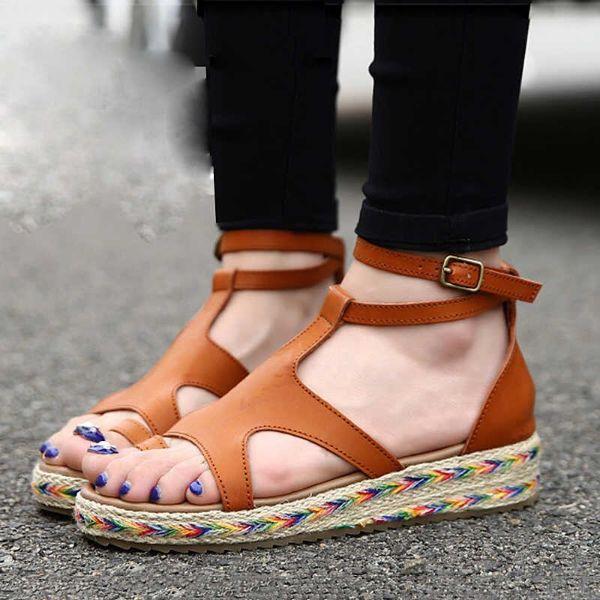 schöne sandalen - ausgezeichnete braune ideen in Leder