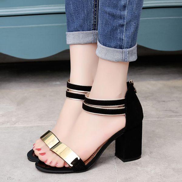schöne sandalen damenschuhe mit glanzvollen elementen