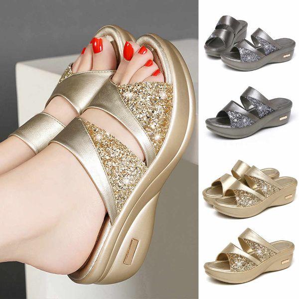 schöne sandalen - goldene schattierungen