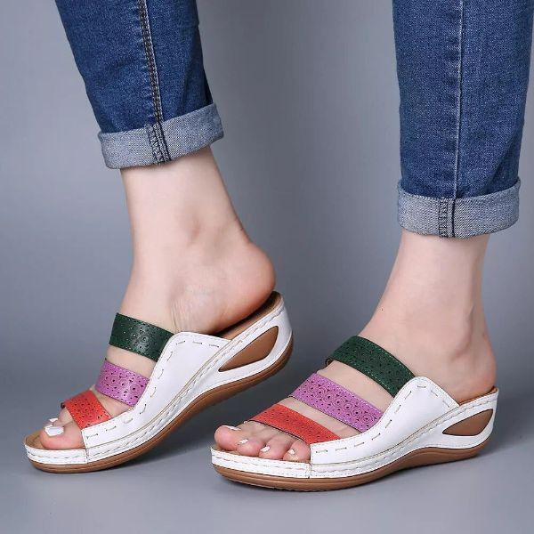 schöne sandalen - schwarz weißes design