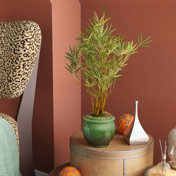 schlafzimmer einrichten bambus im kübel