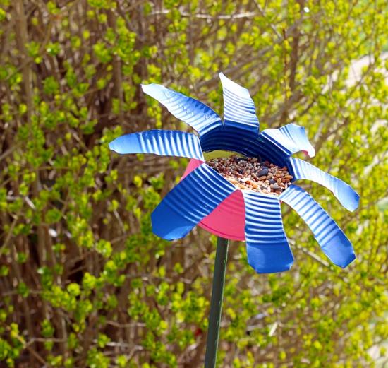 vögel füttern gartendeko selber machen diy ideen